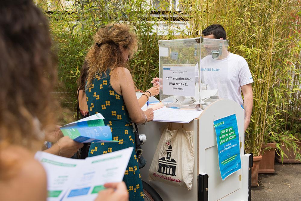 Votation citoyenne pour le Plan Climat, dans le 12e arrondissement